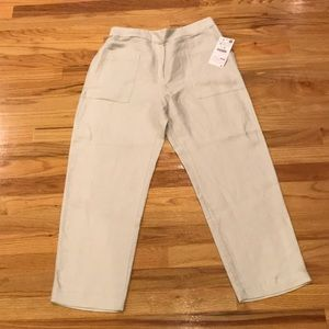 Zara NWT Linen blend trouser-pants Sz M